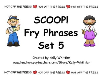 SCOOP! Fry Phrases Set 5 Card Game