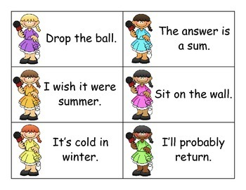 SCOOP! Fry Phrases Set 6 Card Game