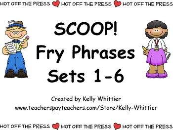 SCOOP! Fry Phrases Sets 1 - 6 Card Game Money Saving Bundle