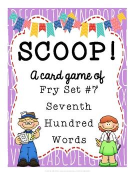 SCOOP! Fry Seventh Hundred Words Card Game