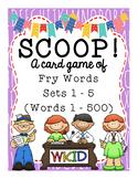 SCOOP! Fry Word Games - Words 1 - 500 - 5 Games