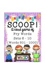 SCOOP! Fry Word Games - Words 501 - 1,000 - 5 Games