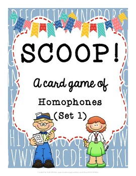 SCOOP! Homophones (Set 1) Card Game