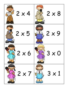 SCOOP! Multiplication Facts Practice 0 - 9 Products of Two Single Digit Numbers