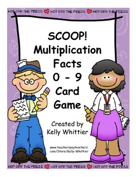 SCOOP! Multiplication Facts Practice 0 - 9 Products of Two