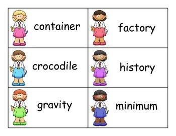 SCOOP! Multisyllable Word Card Games - 5 in this money saving bundle!