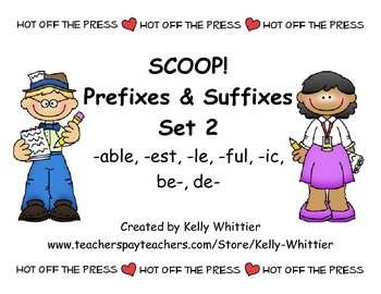SCOOP! Prefixes and Suffixes Set 2 Card Game