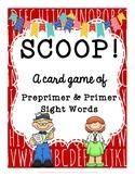 SCOOP! Preprimer and Primer Sight Word Card Game for Beginner Readers
