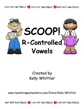 SCOOP! R - Controlled Vowels Card Game