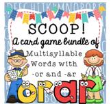 SCOOP! - Reading Card Game Bundle - Multisyllable Words Wi