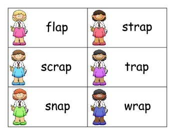 SCOOP! Rime Word Families Set 1 Reading Card Game