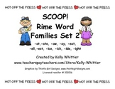 SCOOP! Rime Word Families Set 2 Reading Card Game
