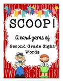 SCOOP! Second Grade Sight Words Card Game