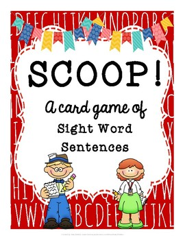SCOOP! Sight Words Sentences Reading Card Game
