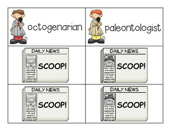SCOOP! Six Syllable Word Card Game