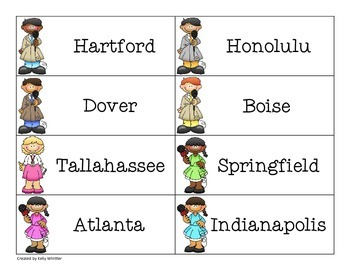 SCOOP!  States, Capitals, and Their Abbreviations Card Game