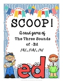 SCOOP! Three Sounds of -Ed (/d/, /id/, /t/) Reading Card Game