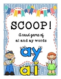 SCOOP! Ai and Ay (Long A Sound) Reading Card Game