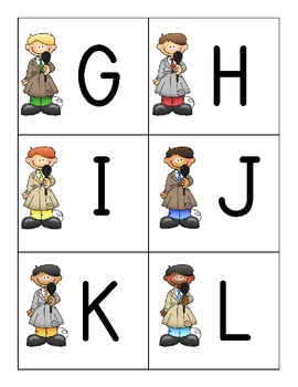 SCOOP! Upper (Capital) and Lower Case Letter Identification Card Games