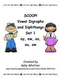 SCOOP! Vowel Digraphs and Diphthongs Set 1 Card Game