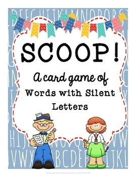 SCOOP! Words with Silent Letters Reading Card Game