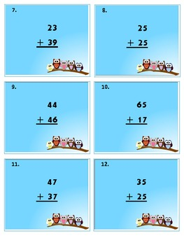 SCOOT!  Adding 2-digit Numbers with Regrouping