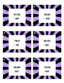 SCOOT - Subtracting Decimal Numbers