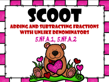 SCOOT - Adding and Subtracting Fractions with Unlike Denominators (CCSS Aligned)
