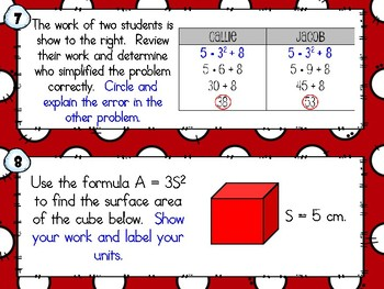 SCOOT - Algebraic Expressions (CCSS Aligned)