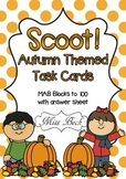 SCOOT! Autumn Themed Task Cards using MAB Blocks