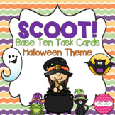 SCOOT! Base Ten Blocks Task Cards Halloween Theme