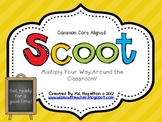 SCOOT [Basic Multiplication Facts 1-12 Times Tables] CC Aligned Math Game