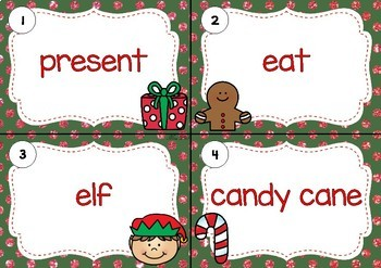 SCOOT! Christmas Themed Noun or Verb Task Cards