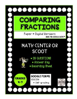 SCOOT - Comparing and Ordering Fractions