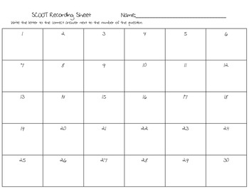 SCOOT Contractions Game