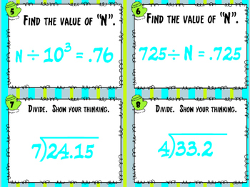 SCOOT - Dividing Decimals Common Core Aligned