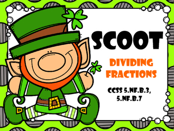 SCOOT - Dividing Fractions (Common Core Aligned)