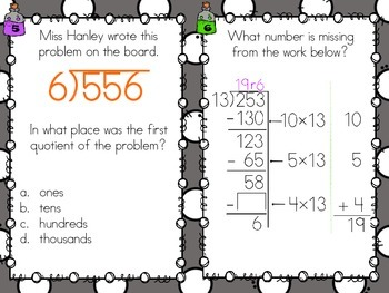 SCOOT - Dividing Whole Numbers (Common Core Aligned)