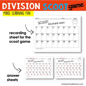 SCOOT! | Division Facts | Math Activity | Learning Division Facts