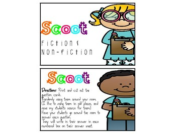 SCOOT- Fiction and Nonfiction Text Scavenger Hunt