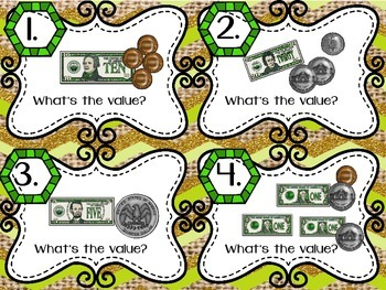 SCOOT Find the Value Dollars & Coins 2.MD.8 Money