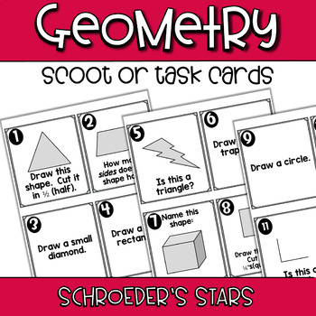SCOOT! First Grade Geometry Review- 2D and 3D Shapes