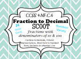 Fraction and Decimals Scoot