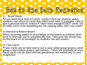 SCOOT Game O.A. Standards Review 3rd grade