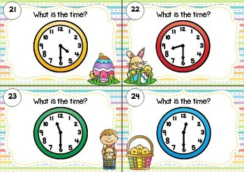 SCOOT! Half Past Task Cards Easter Theme