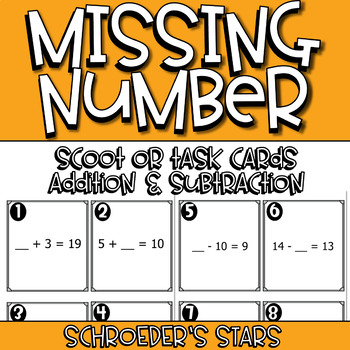 SCOOT! Missing Number (Addition & Subtraction)