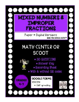 SCOOT - Mixed Numbers and Improper Fractions