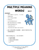 VOCABULARY | Multiple Meaning Words 2 | Homographs | REVIEW | Gr 3-4-5 CORE