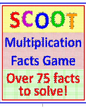 SCOOT Multiplication Facts Game (Cards, Grid and Lesson Plan)