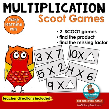 SCOOT! | Multiplication Facts | [Math Activities]